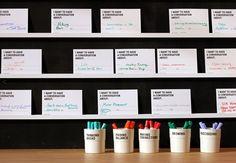 Dialogue-Provoking Installations : the conversation wall Interactive Exhibition, Interactive Walls, Interactive Installation, Interactive Design, Web Banner Design, Environmental Graphics, Environmental Design, Brainstorm, Cultural Probes