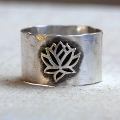 Yoga jewelry lotus ring