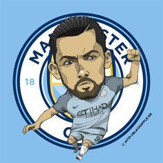 Manchester City No.9 Nolito Fan Art Football And Basketball, Soccer, Pop Art Design, English Premier League, City Illustration, Manchester City, Fan Art, Seasons, England