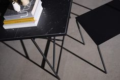 From the massive Dining Table 230 to the critically acclaimed Desk in black marble, all HANDVÄRK tables are meticulously designed in Denmark and characterized by aesthetic sustainability: a timeless object in a quality that lasts a lifetime. Marble Furniture, Dark Furniture, Black Marble, Corner Desk, Dining Table, Design, Home Decor, Homemade Home Decor, Diner Table