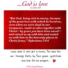 God is rich in mercy!  #atruegospelministry