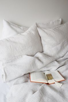 Linen pillow cover - Striped linen pillowcase - Linen bedding - Natural linen pillow - Softened line - Striped Linen pillow cover. Make your bed more comfortable and stylish with our beautiful striped -