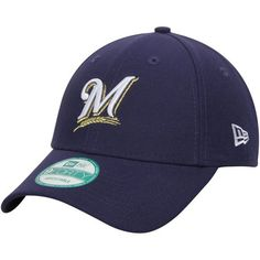 Milwaukee Brewers New Era Men's League 9Forty Adjustable Hat - Navy - $19.99