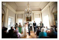 Indoor Ceremony at the Lyman Estate