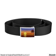 Sunset at tropical beach black belt