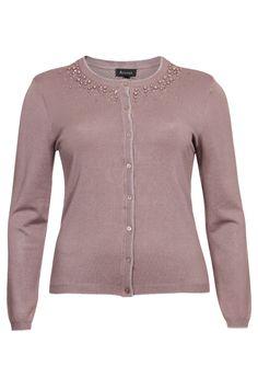Mooie cardigan van Accent in vieux rose. Online bestelbaar bij Nr4 #GroteMaten Dames via onderstaande link http://www.nr4.be/nl/shop/artikel/accent_gilets_112560