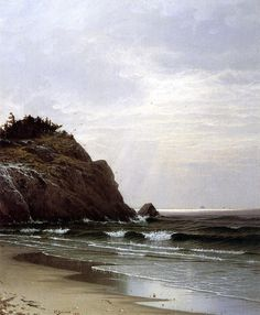The Athenaeum - Cloudy Day, Great Head (Alfred Thompson Bricher - )