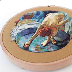 Degas reproduction embroidery