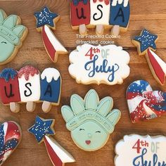 Happy 4th of July! 🇺🇸❤️💙⭐️🗽4th of July cookies || America cookies || USA  cookies