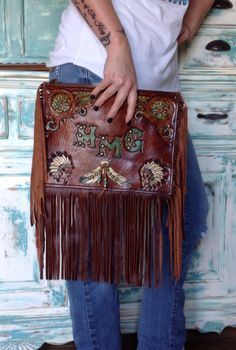 Hand tooled custom order clutch by double j originals