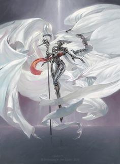 Platinum Angel  - Aether Revolt by Victor Adame Minguez