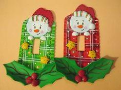 Xmas, Christmas Ornaments, Switch Plates, Snowman, Clip Art, Holiday Decor, Creative, Home Decor, Ideas Vintage