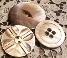 pearl shell buttons are my favourite.