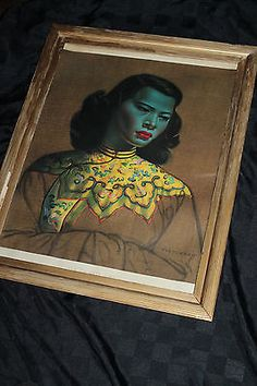 Vladimir TRETCHIKOFF GREEN LADY Asian Chinese Girl Engraving FRAMED ART PRINT | Art, Art from Dealers & Resellers, Prints | eBay!