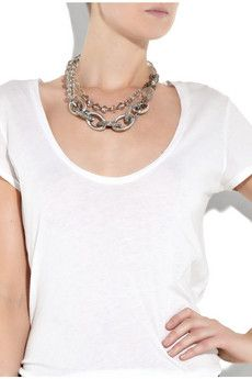 Chunky necklace — something I love wearing in the summer with a simple tee. Effortless chic.
