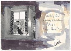 Carolee Schneeman christmas card to Joseph Cornell, 196-?. Joseph Cornell papers, Archives of American Art, Smithsonian Institution.