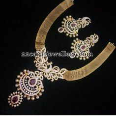 Necklaces with Jhumkas 5000 Rupees - Jewellery Designs