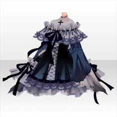 Hollowly Nightmare | @games - at Games - Anime Outfits, Dress Outfits, Dress Up, Dress Drawing, Drawing Clothes, Anime Dress, Fashion Art, Fashion Design, Character Outfits