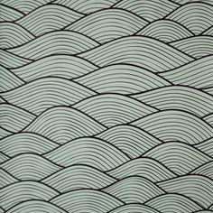Papel de parede abstrato curvas com desenho preto e fundo branco.Tamanho:  1 Rolo de 3m (altura) X 50cm (largura).