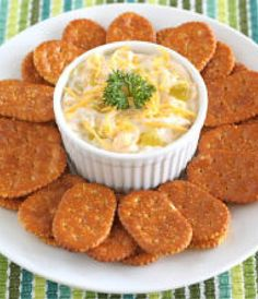 Set out this delicious Nacho Chicken-Cheese Spread with Town House Flipside Crackers on game day and watch it go fast!