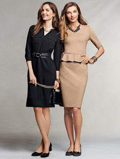 Talbots - Ponte Peplum Dress   Dresses   Woman