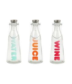 Old Fashioned Glass Water Bottles/Jugs Set