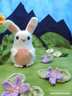 Jelly Belly Bunny Crochet FREE pattern by Squirrel Picnic