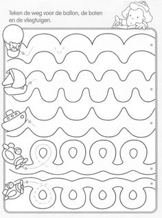 Crafts,Actvities and Worksheets for Preschool,Toddler and Kindergarten.Lots of worksheets and coloring pages. Tracing Worksheets, Preschool Worksheets, Preschool Learning, Preschool Activities, Motor Activities, Writing Activities, Educational Activities, Pre Writing, Writing Skills