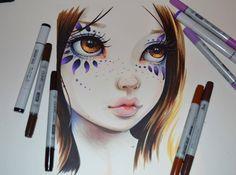 Female Portrait Commission by Lighane on DeviantArt