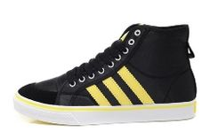 Adidas Clover Nizza High Top For Men Black Yellow