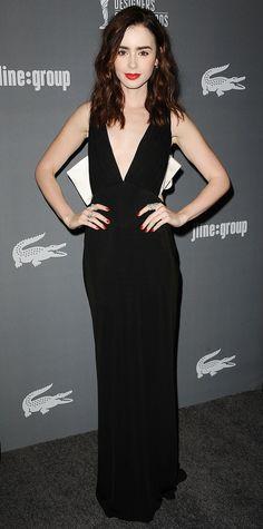 Lily Collins's Red Carpet Style - In Paule Ka, 2013