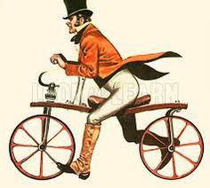 The Dandy Horse, c.1818, the forerunner of the bicycle.
