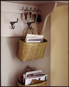 Love this hanging basket for mail
