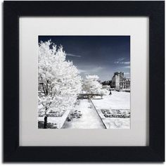 Trademark Fine Art Another Look at Paris Xviii Canvas Art by Philippe Hugonnard, White Matte, Black Frame, Size: 11 x 11