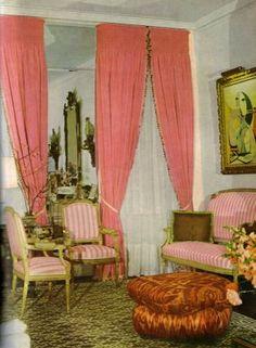Billy Baldwin living room designed for Mollie Parnis (1950s- 60s dress designer)