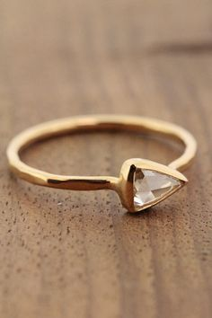Clear Pear Shaped Diamond Ring