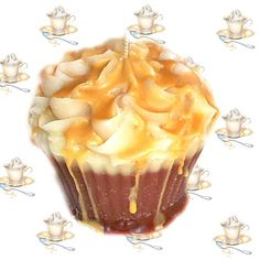 Cafe Caramel Cupcake Candle Creamy Coffee Scent. $4.00, via Etsy.