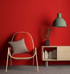 MAGDA Easy chair by Sara Elizagarate Nogales. Even better with a tone on tone wall. In matte.
