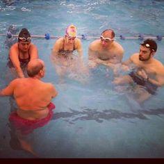 Un honor participar de una clase con el gran profesor #OscarGarcia #natacion