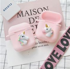 Cute Silicone Case With Strap For Apple Airpods Shockproof Cover For Apple AirPods Earphone Cases Cute Air Pods Protector Case Unicorns, Apple Price, Rose Gold Pink, Pink Black, Cell Phone Screen Protector, Keychain Clip, Apple Watch Wallpaper, Cheap Iphones, Apple Airpods 2
