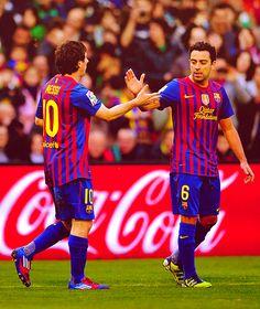 Messi i Xavi.