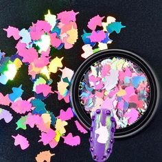 Unicorn Glitter Nail Sequins #GlitterNails