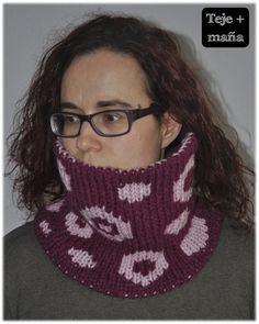 Teje + maña: Cuellos de una vuelta a doble knitting Lana 100% acrílica 60 cm x 21 cm