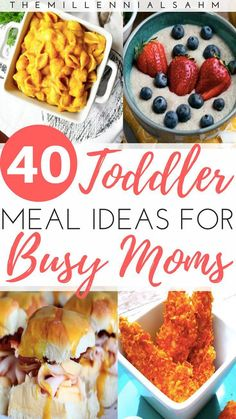 Toddler meals 411797959681928606 - As a busy mom, mealtime can be stressful – especially if you have toddlers. Thankfully it doesn't have to be! Here are over 40 toddler meal ideas for busy moms that toddlers will love! Source by bychelsstudio Toddler Friendly Meals, Picky Toddler Meals, Toddler Lunches, Kid Friendly Dinner, Kids Meals, Toddler Dinners, Toddler Food, Toddler Meal Plans, Toddler Menu