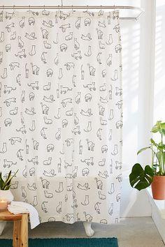 Floret Lace Shower Curtain