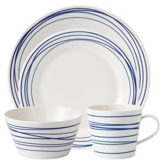 Shop Royal Doulton - Pacific Lines Dinner Set at Peter's of Kensington. View our range of Royal Doulton online. Why in the world would you shop anywhere else for Royal Doulton? Casual Dinnerware, Dinnerware Sets, Royal Doulton, Ceramic Plates, Ceramic Pottery, Pacific Blue, Dinner Sets, Home Interior, White Porcelain