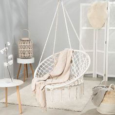 Our bohemian 𝗠𝗮𝗰𝗿𝗮𝗺𝗲 𝗛𝗮𝗺𝗺𝗼𝗰𝗸 𝗖𝗵𝗮𝗶𝗿 is a must to elevate your space! Hammock chairs are a great addition to any space and will quickly become your new favorite spot 🌾 Check out our stories to see our favorite hammock chair inspo! Wooden Dining Room Chairs, Scandinavian Dining Chairs, Wayfair Living Room Chairs, Living Room Furniture, Hammock Swing, Hammock Chair, Swinging Chair, Room Decor Bedroom, Home Bedroom
