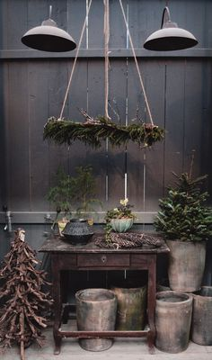 Christmas inspiration with a hanging wreath featuring natural fir a great rustic Christmas decoration inspired by Scandinavian Christmas ideas Natural Christmas, Noel Christmas, Primitive Christmas, Country Christmas, Christmas Wreaths, Christmas Crafts, Xmas, Advent Wreaths, Christmas Tables