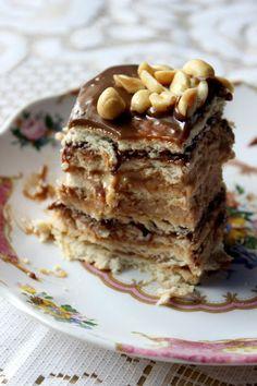 Cakes by Kejt: Ciasto Snikers bez pieczenia