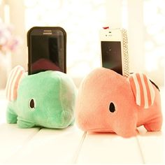 Candy Color Sad Elephant Toy Phone Holder Stand [grzxy6100049] on Luulla